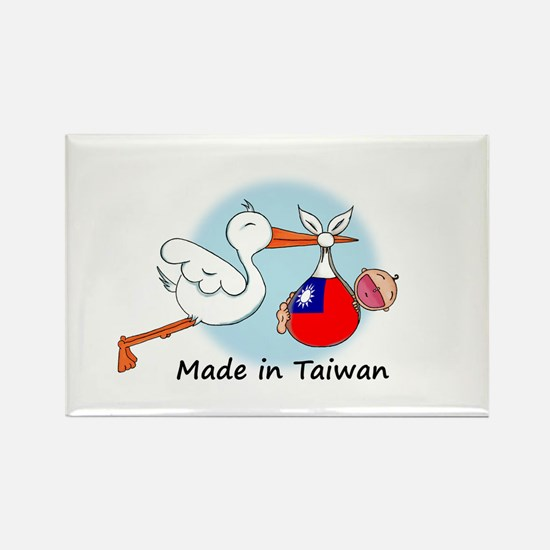Stork Baby Taiwan Rectangle Magnet