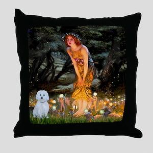 MidEve / Maltese Throw Pillow