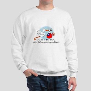 Stork Baby Taiwan USA Sweatshirt
