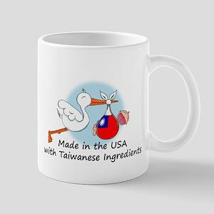 Stork Baby Taiwan USA Mug