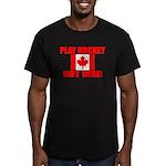 PLAY HOCKEY Men's Fitted T-Shirt (dark)