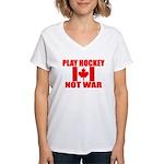 PLAY HOCKEY Women's V-Neck T-Shirt