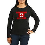 PLAY HOCKEY Women's Long Sleeve Dark T-Shirt