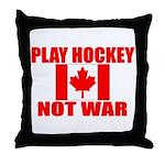 PLAY HOCKEY Throw Pillow