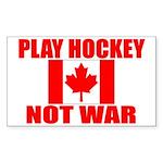 PLAY HOCKEY Sticker (Rectangle 10 pk)