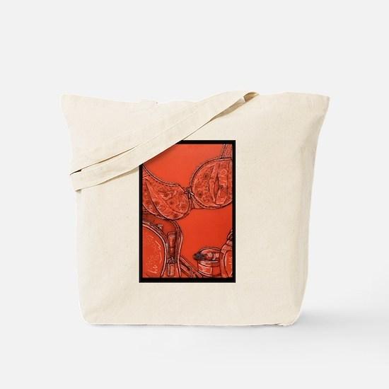 Lacy Bra Tote Bag