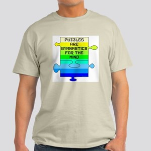 Jigsaw Puzzle Pieces Light T-Shirt