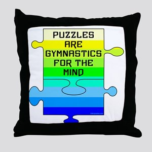 Jigsaw Puzzle Pieces Throw Pillow