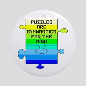 Jigsaw Puzzle Pieces Ornament (Round)