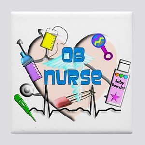 OB Nurse Tile Coaster