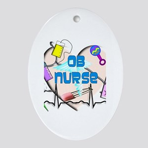OB Nurse Ornament (Oval)