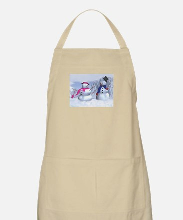 snow couple Apron