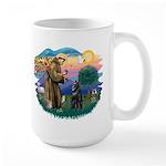 St Francis #2/ Belgian Shep Large Mug