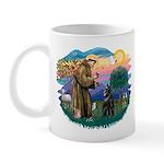 St Francis #2/ Belgian Shep Mug