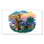 St Francis #2/ Belgian Shep Sticker (Rectangle)