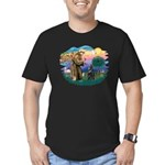 St Francis #2/ Belgian Shep Men's Fitted T-Shirt (