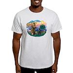 St Francis #2/ Belgian Shep Light T-Shirt