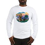 St Francis #2/ Belgian Shep Long Sleeve T-Shirt