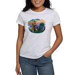 St Francis #2/ Belgian Shep Women's T-Shirt