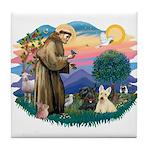 St Francis #2/ Scottys (2) Tile Coaster