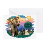 St Francis #2/ Scottys (2) Greeting Cards (Pk of 2