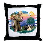 St Francis #2/ Scottys (2) Throw Pillow