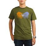 Art in Clay / Heart / Hands Organic Men's T-Shirt
