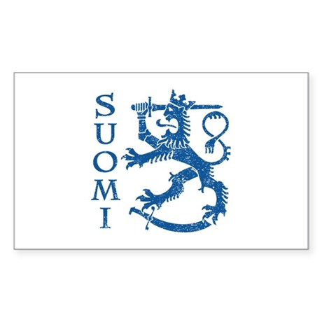 Suomi Coat of Arms Sticker (Rectangle)