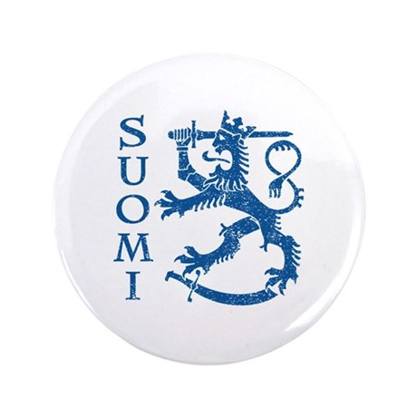 """Suomi Coat of Arms 3.5"""" Button"""