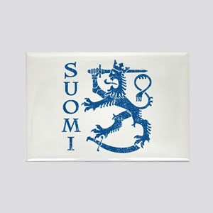 Suomi Coat of Arms Rectangle Magnet