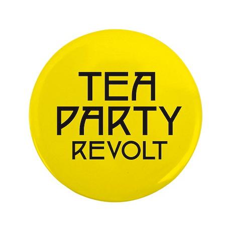 """Tea Party Revolt (plain) 3.5"""" Button"""