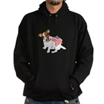 Jack Russell With USA Flag Hoodie (dark)