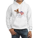 Jack Russell With USA Flag Hooded Sweatshirt