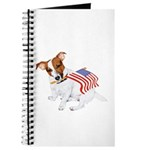 Jack Russell With USA Flag Journal