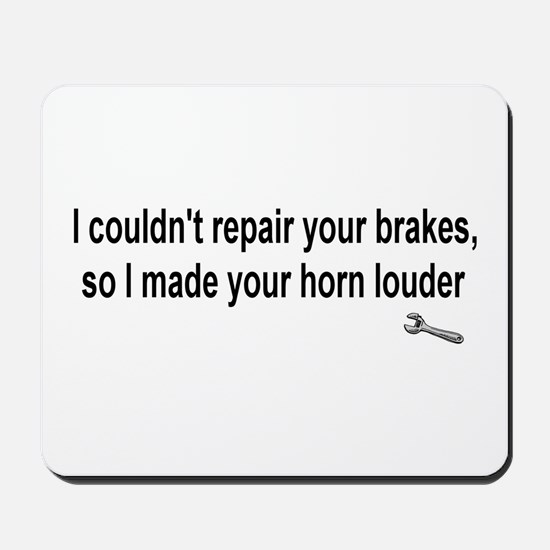 I couldn't repair ...  Mousepad