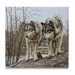 Wolf Pair Tile Coaster