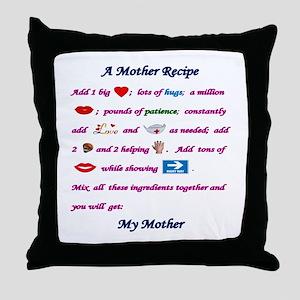 A Mother's Recipe Throw Pillow