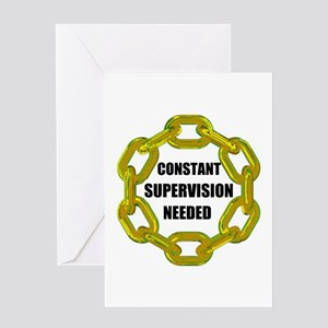 CHAINS NEEDED Greeting Card