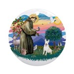 St Francis #2/ Bull T (#4) Ornament (Round)