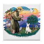 St Francis #2/ Bull T (#4) Tile Coaster
