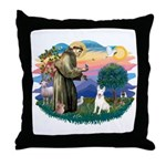 St Francis #2/ Bull T (#4) Throw Pillow