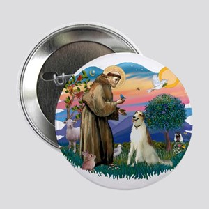 "St Francis #2/ Borzoi 2.25"" Button"