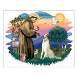 St Francis #2/ Borzoi Small Poster