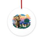 St Francis #2/ Cavalier (2 bl) Ornament (Round)