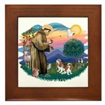 St Francis #2/ Cavalier (2 bl) Framed Tile
