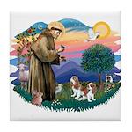St Francis #2/ Cavalier (2 bl) Tile Coaster