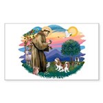 St Francis #2/ Cavalier (2 bl) Sticker (Rectangle)