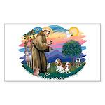 St Francis #2/ Cavalier (2 bl) Sticker (Rectangle)