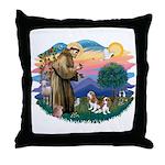 St Francis #2/ Cavalier (2 bl) Throw Pillow