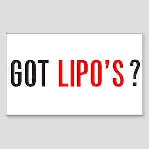 Got Lipo's ? Sticker (Rectangle)